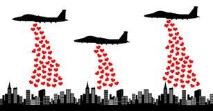 Haga la guerra del amor no imagen de archivo libre de regalías
