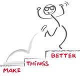 Haga las cosas mejores stock de ilustración
