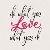 Haga lo que usted letras de amor Imagen de archivo