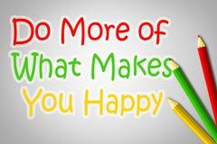 Haga más de qué le hace concepto feliz libre illustration