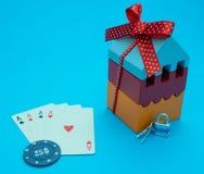 Haga pequeño triunfo apostado la casa grande anuncio del casino foto de archivo libre de regalías