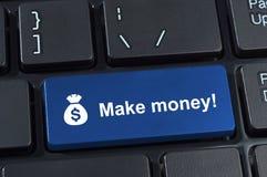 Haga que el botón del dinero con el icono despide y la muestra de dólar. Foto de archivo libre de regalías