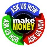 Haga que el dinero - nos pregunta cómo Fotos de archivo