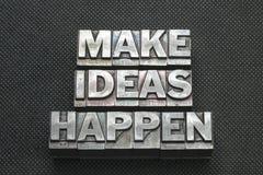Haga que las ideas suceden bm imagen de archivo
