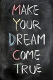 Haga que su sueño viene verdad Imágenes de archivo libres de regalías