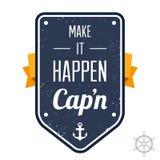 Haga que sucede, Capn Imagenes de archivo