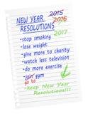 Haga, rompa las resoluciones Aislado en blanco Foto de archivo