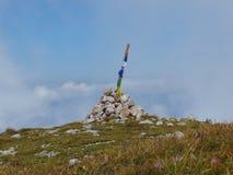 Haga salir el lugar en el pico más alto de las montañas austríacas Imagen de archivo libre de regalías