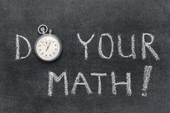 Haga su matemáticas Fotos de archivo