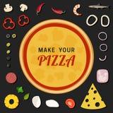 Haga su pizza ilustración del vector