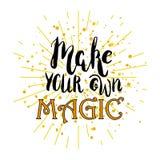 Haga su propia magia Fotografía de archivo libre de regalías