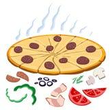 Haga su propia pizza Ilustración del Vector