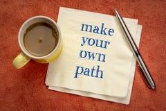 Haga su propio camino foto de archivo