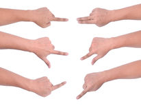 Movimiento de la mano de la PC de la tableta Imágenes de archivo libres de regalías