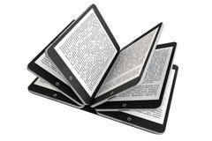 Haga tabletas la PC como paginaciones del libro Fotografía de archivo