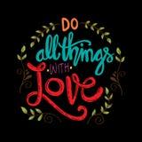 Haga todas las cosas con amor libre illustration