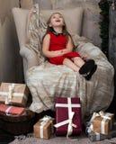 Haga un deseo en el día de fiesta de la Navidad Fotos de archivo