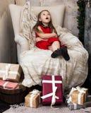 Haga un deseo en el día de fiesta de la Navidad Foto de archivo libre de regalías