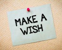 Haga un mensaje del deseo Foto de archivo libre de regalías