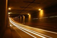 Haga un túnel en la noche Fotografía de archivo