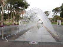 Haga un túnel la fuente en el circuito mágico del agua, Lima Imagen de archivo libre de regalías