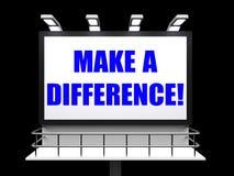 Haga una muestra de la diferencia representa la motivación para Foto de archivo libre de regalías