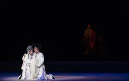 """Haga una oferta el adiós en el acto de los rasgones- novenos que sella el  blanco de Opera""""Madame Snake†del cuenco-Kunqu Imagen de archivo"""
