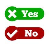 Haga y no compruebe la marca de la señal y los iconos de la Cruz Roja diseñan aislado en el fondo blanco libre illustration
