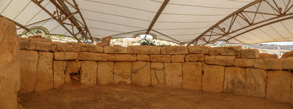 Hagar Qim和Mnajdra寺庙 免版税图库摄影
