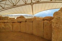 Hagar Qim和Mnajdra寺庙 图库摄影
