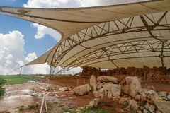 Hagar Qim和Mnajdra寺庙 免版税库存照片