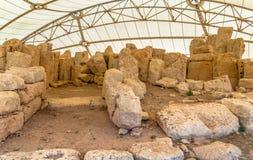 Hagar Qim寺庙岩石 免版税库存图片