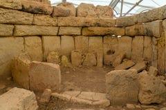 Hagar Qim寺庙房间 免版税库存图片