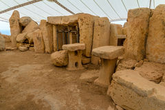 Hagar Qim寺庙石头 免版税库存照片