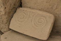 Hagar Qim寺庙|螺旋 库存图片