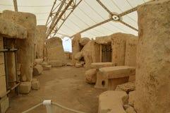 Hagar Qim新石器时代的寺庙在马耳他 免版税图库摄影