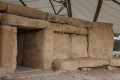 Hagar Qim świątynia | Główny drzwi zdjęcie stock