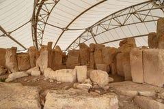 Hagar Qim και ναοί Mnajdra Στοκ εικόνα με δικαίωμα ελεύθερης χρήσης