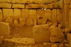 Hagar Qim -巨石寺庙复合体在马耳他海岛  免版税库存图片
