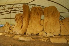 Hagar Qim - megalithic temple complex in Island of Malta Royalty Free Stock Photography