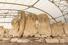 Hagar Qim megalithic temple in Malta. Hagar Qim megalithic temple complex, one of the most ancient religious sites on Earth in Malta Royalty Free Stock Photos
