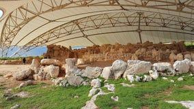 Hagar Qim Megalithic Temple Malta imagem de stock