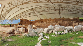 Hagar Qim Megalithic Temple Malta. Megalithic Temple Malta called Mnajdra. All the doors are dispose according to the sun position at the solstitium Stock Image