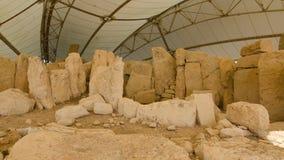 Hagar Qim - megalitisk tempel Royaltyfri Foto