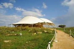 Hagar Qim - megalitiskt tempelkomplex i ön av Malta Royaltyfri Fotografi