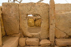 Hagar Qim Temple Hole Royalty Free Stock Image