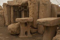 Hagar Qim Temple | Local do altar fotos de stock royalty free