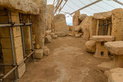 Hagar Qim Temple Remains Royalty Free Stock Photo