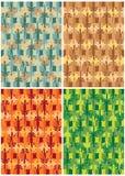 Hagedis vier kleuren Stock Foto's