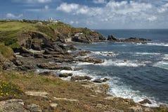 Hagedispunt dichtbij Hagedis Cornwall, het UK Stock Foto's
